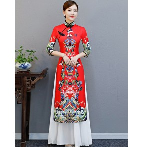 Women's Chinese dresses cheongsam traditional oriental qipao dresses evening party bridesmaid dress