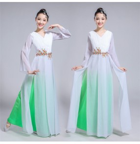 Women's Chinese folk dance costumes china traditional yangge dresses fairy drama cosplay dresses costumes