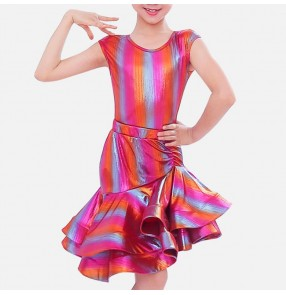 Girls latin dance dresses competition professional kids stage performance rumba salsa chacha dance skirts costumes