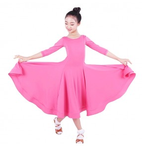 Girls kids ballroom latin dresses salsa chacha rumba stage performance skirts costumes dress