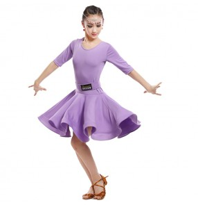 Girls kids latin dresses robe latine de filles salsa chacha rumba stage performance dance skirts costumes