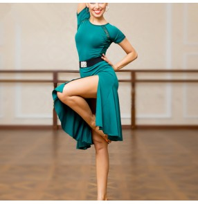 Women's latin dance dresses salsa chacha rumba dance skirts costumes dress