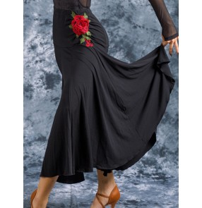 Women's ballroom dancing skirts waltz tango flamenco dance costumes  skirt