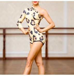 Women's latin ballroom dance tops waltz tango dance leotards bodysuits jumpsuits