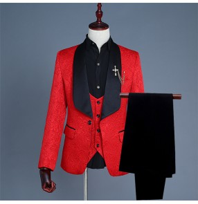 Men's singers host night club dj performance blazers male modern dance photography groomsmen coats