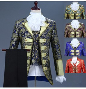 Men's singers jazz European palace princess drama cosplay coats host stage performance jackets blazers coats