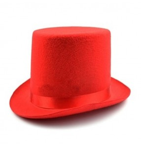 Men's night club jazz dance show magician hats hiphop street dance stage performance hats fedoras 13cm height