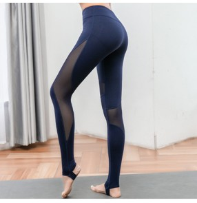 Women's Yoga pants female yoga capris pants tummy control active high waist fitness sports workout leggings pants