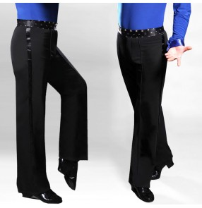 Men's ballroom dancing pants waist with rivet side ribbon latin pants salsa chacha rumba samba waltz dance long trousers pants