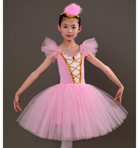 c1e46b315077 Girls modern dance ballet tutu skirt ballet dress kids children stage ...