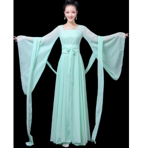 Hanfu Women's Chinese folk dance costumes female lady ancient classical traditional dance fairy princess dresses