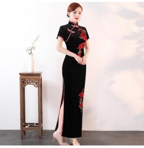 Women's Traditional Chinese qipao dresses cheongsam dress stage performance chrous drama cosplay evening party dresses