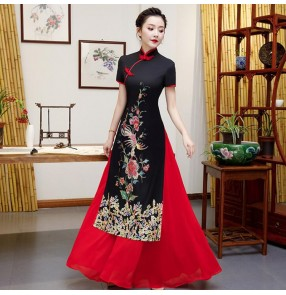 Women's chinese dresses traditional chinese qipao dresses cheongsam model show performance dresses