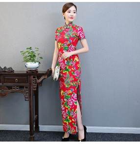Chinese dresses traditional cheongsam qipao dresses for women female retro vintage oriental dresses