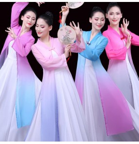 Women's chinese hanfu fairy princess drama cosplay dresses stage performance traditional classical dance dresses