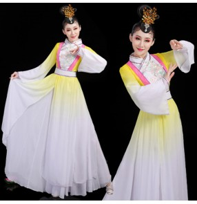 Women's chinese hanfu fairy anime drama cosplay dresses folk dance dresses classical traditional dance chinese dresses