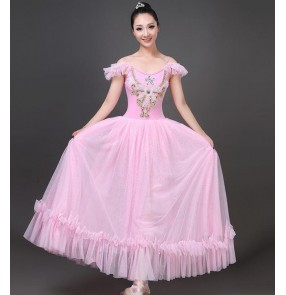 Women's light pink white  modern dance ballet dance dresses ballet dance costumes