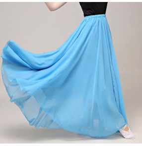 Women's modern dance ballet dance skirts flamenco dance skirts classical ballet dance skirts 540degree 90cm in length