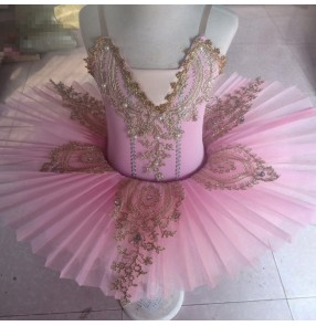 Kids baby classical ballet dance dress children pancake classical ballet dance costumes