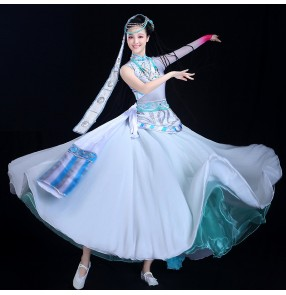 Women's Mongolian costumes chinese folk dance minority tibet stage performance dress costumes