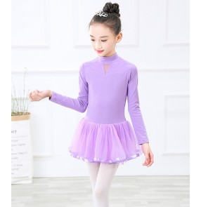 Children's ballet dance dress long-sleeved high-necked dance clothes girls gymnastics dance children's ballet dance costumes
