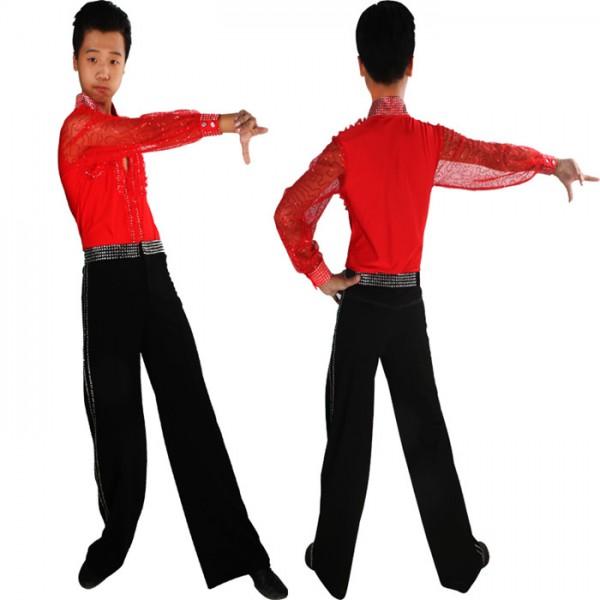 5ddc2762e Black red white boys kids children performance professional ...
