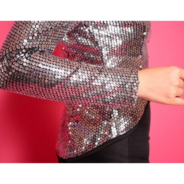 f3ead05305 Black sequins silver gold women s ladies female long sleeves sexy fashion  competition performance show play jazz singer dance hip hop costumes tuxedo  tops ...