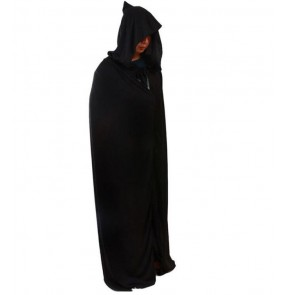 Black hoodies long length robe adult men's women's Halloween Christmas party witch wizard performance dancing costumes outfits cloaks capes