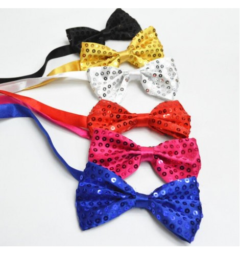Kids Boys//Girls Shining Sequin Necktie Sequined Glitter Dance Party Tie Clubwear