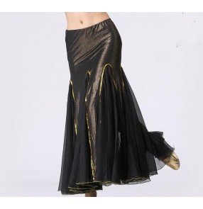 Black red yellow blue competition performance women's female big skirted belly dance skirts outfits dresses