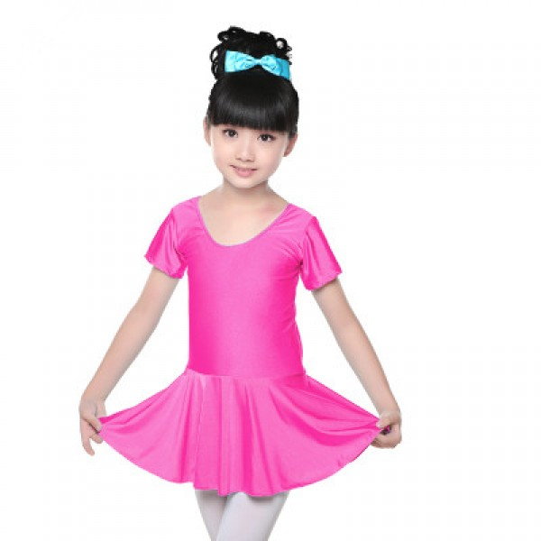 947ee7a3b Fuchsia black turquoise colored short sleeves girls kids child ...