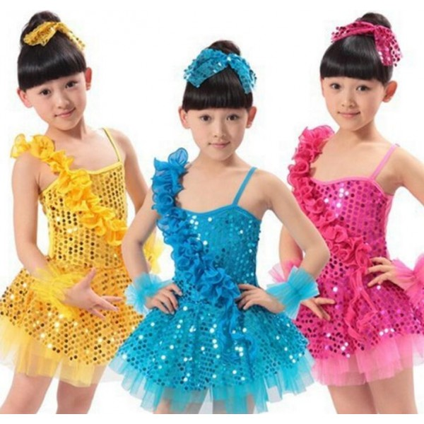 8af65b1bd Girls child kids children baby sky blue fuchsia gold yellow ...