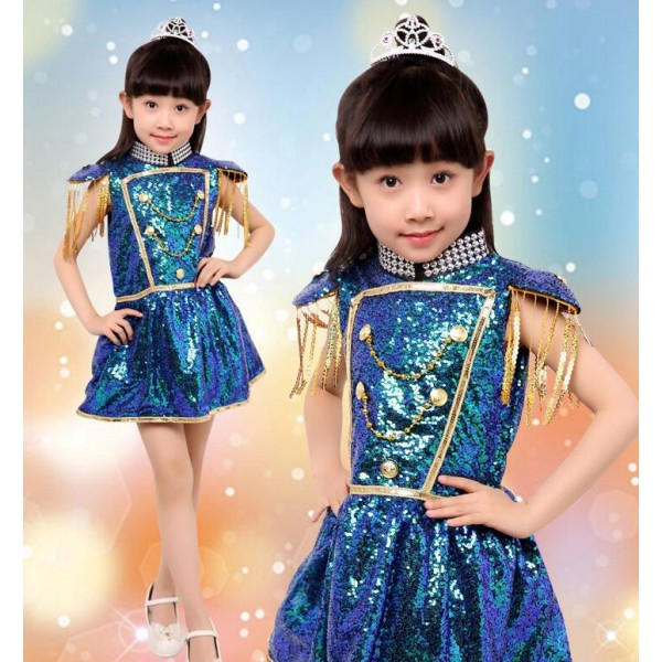 1a28c2798a00 Peacock green sequined paillette girls kids child children school ...