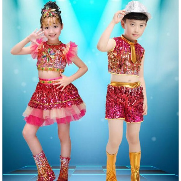 fc9b24e61669 Rainbow colored sequins boys girls kids children paillette ...