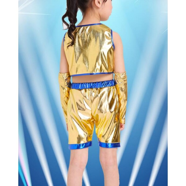 Blue and yellow toddler dress