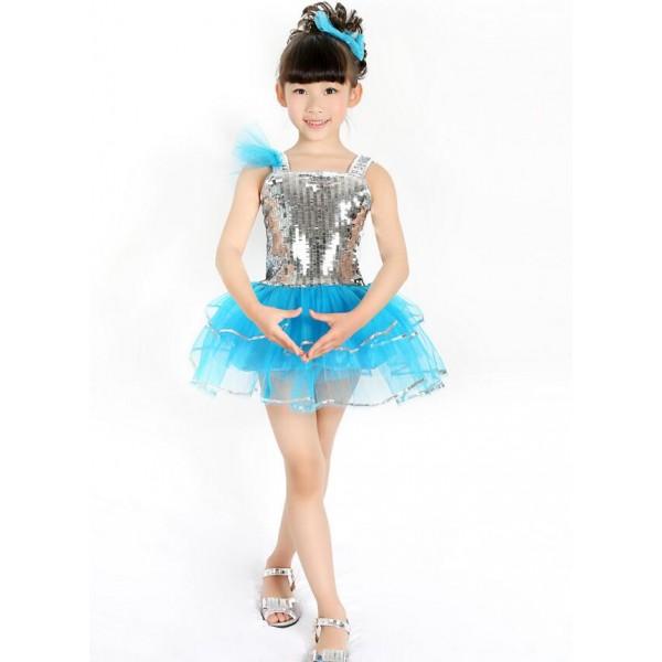 Silver Turquoise Patchwork Girls Kids Child Children