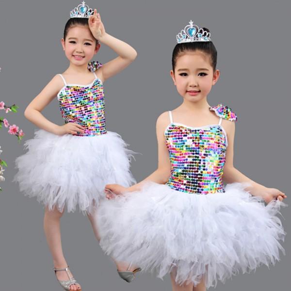 d231f4f8a0db Silver white sequined girls kids children kindergarten toddlers ...