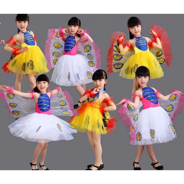 7f85a7a6f White yellow gold girls kids child children toddlers kindergarten ...