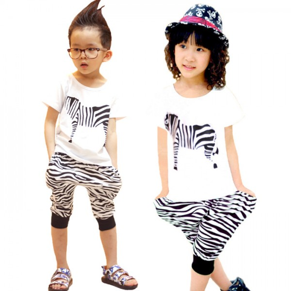 957d4a87d White zebra printed girls boys kids children modern dance ...