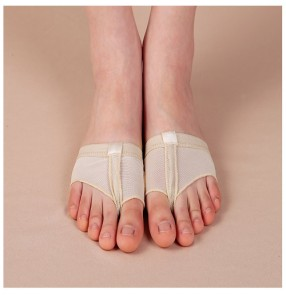 Wholesale Flesh beige  colored   professional foot thongs belly ballet dance practice toe pad shoes socks