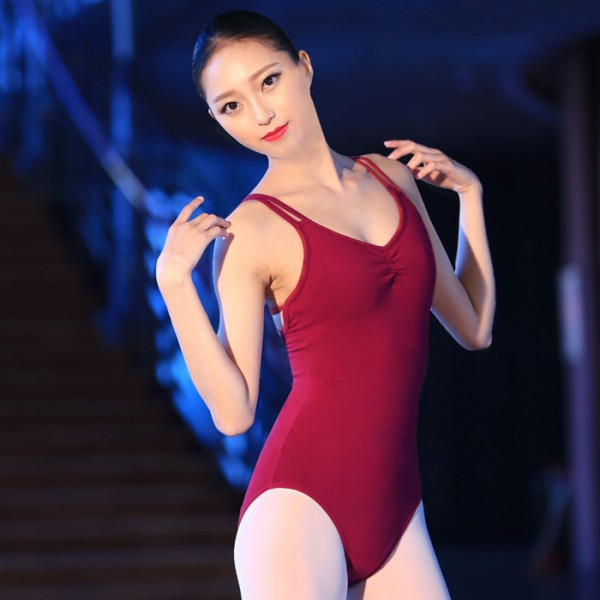 937acdd37 Wine red spandex patchwork backless women s ladies adult female ...