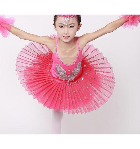 670ec3b5e Yellow white pink fuchsia hot pink black and red tutu skirt leotards girls  ...