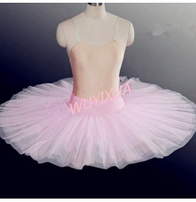 Adult kids ballet dance tutu skirt fluffy swan lake half skirs performance hard tulle children women practice TUTU modern dance ballet skirts