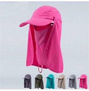 Adult summer Outdoor riding anti UV sunscreen cap breathable full face cover protective cap for unisex