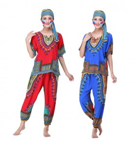African drummer performance dresses printed southeast styles Thailand folk cosplay dance costumes for women female