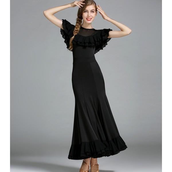 Black long sleeve lycra dress