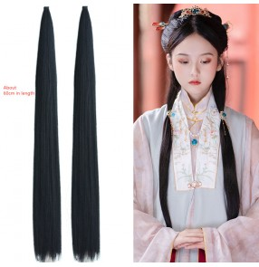 Ancient chinese han tang dynasty princess empress hair extension for women girls hanfu wig hair bundle hair row COS ancient style photo studio photo fairy hair style