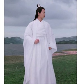 Ancient men Chinese hanfu swordsman photos shooting performance dress male Tang suit student fairy Chinese Wei Jin style Hanfu male