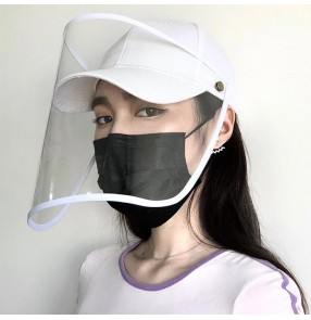 Anti-spitting spray saliva baseball cap with face shield dust proof protective sun cap for unisex