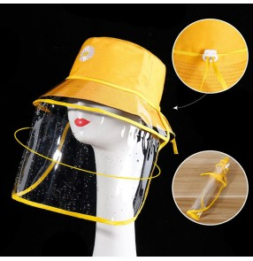 Anti-spitting spray saliva fisherman hats with clear face shield dust proof sunscreen cap for women